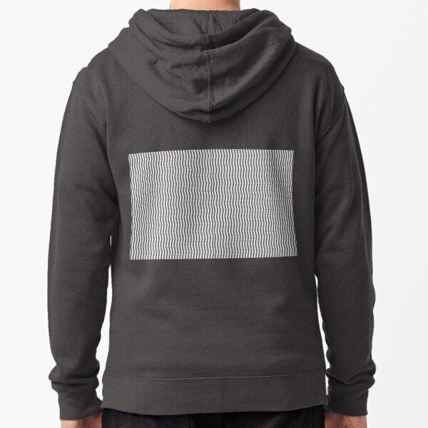 Visual Illusion Zipped Hoodie