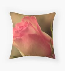 Soft Pink and White Rose, As Is Throw Pillow