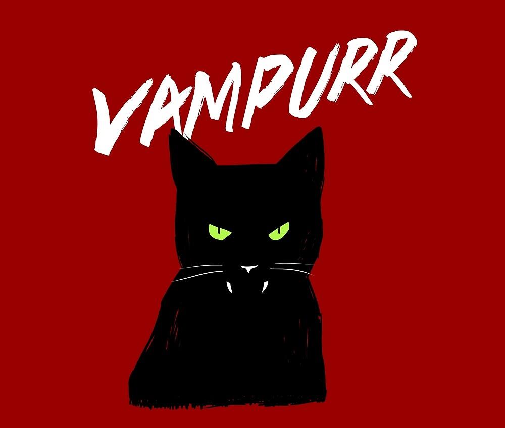 Vampire Cat | Vampurr Halloween Kitty by Kittyworks