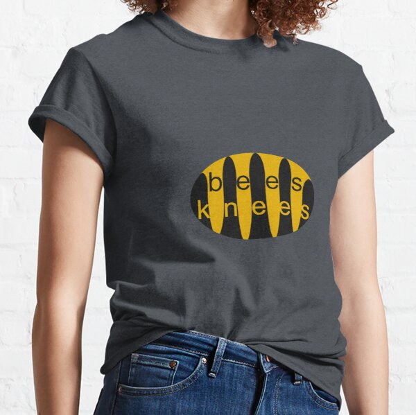 Bees Knees Black and Yellow design Classic T-Shirt