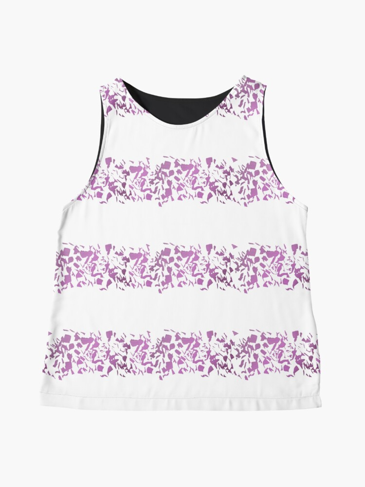 Alternate view of Modern abstract violet purple watercolor geometrical stripes Sleeveless Top