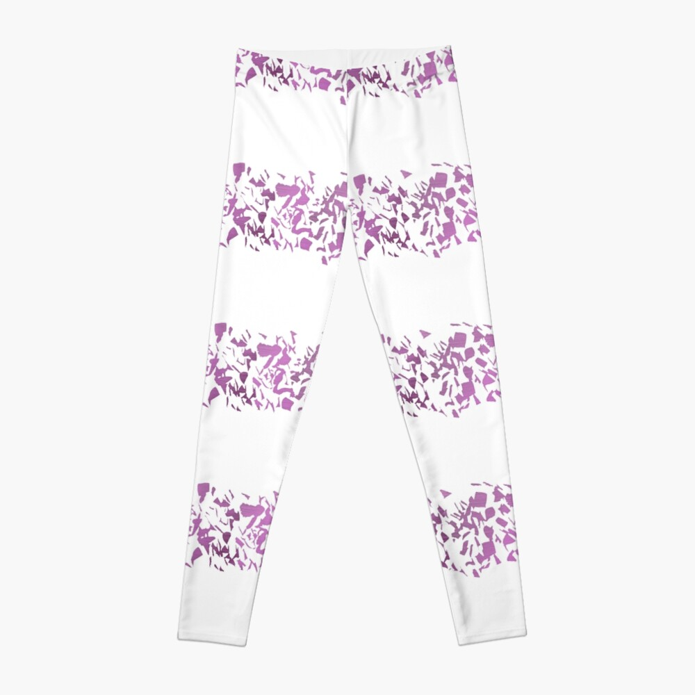 Modern abstract violet purple watercolor geometrical stripes Leggings
