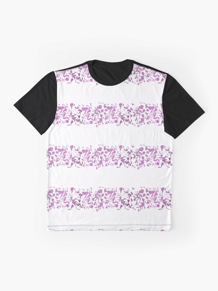 Alternate view of Modern abstract violet purple watercolor geometrical stripes Graphic T-Shirt