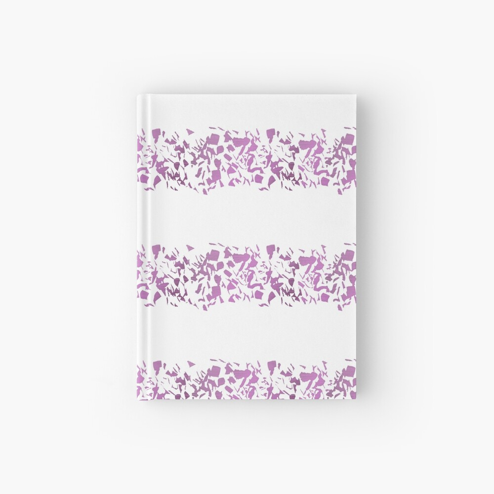 Modern abstract violet purple watercolor geometrical stripes Hardcover Journal
