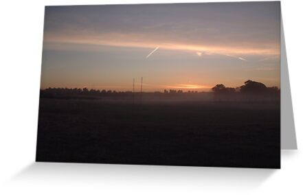 Early morning on the sports field by rualexa