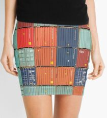 Rotterdam Harbour - Containers Mini Skirt
