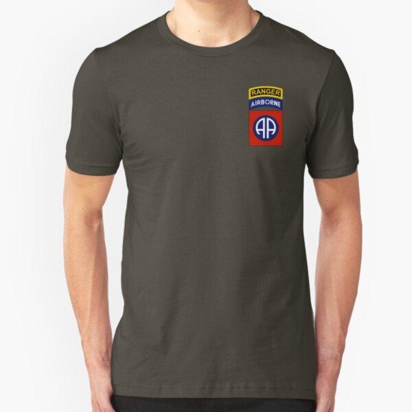 82nd Airborne Ranger Slim Fit T-Shirt