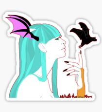 Morrigan Aensland of Darkstalkers Sticker