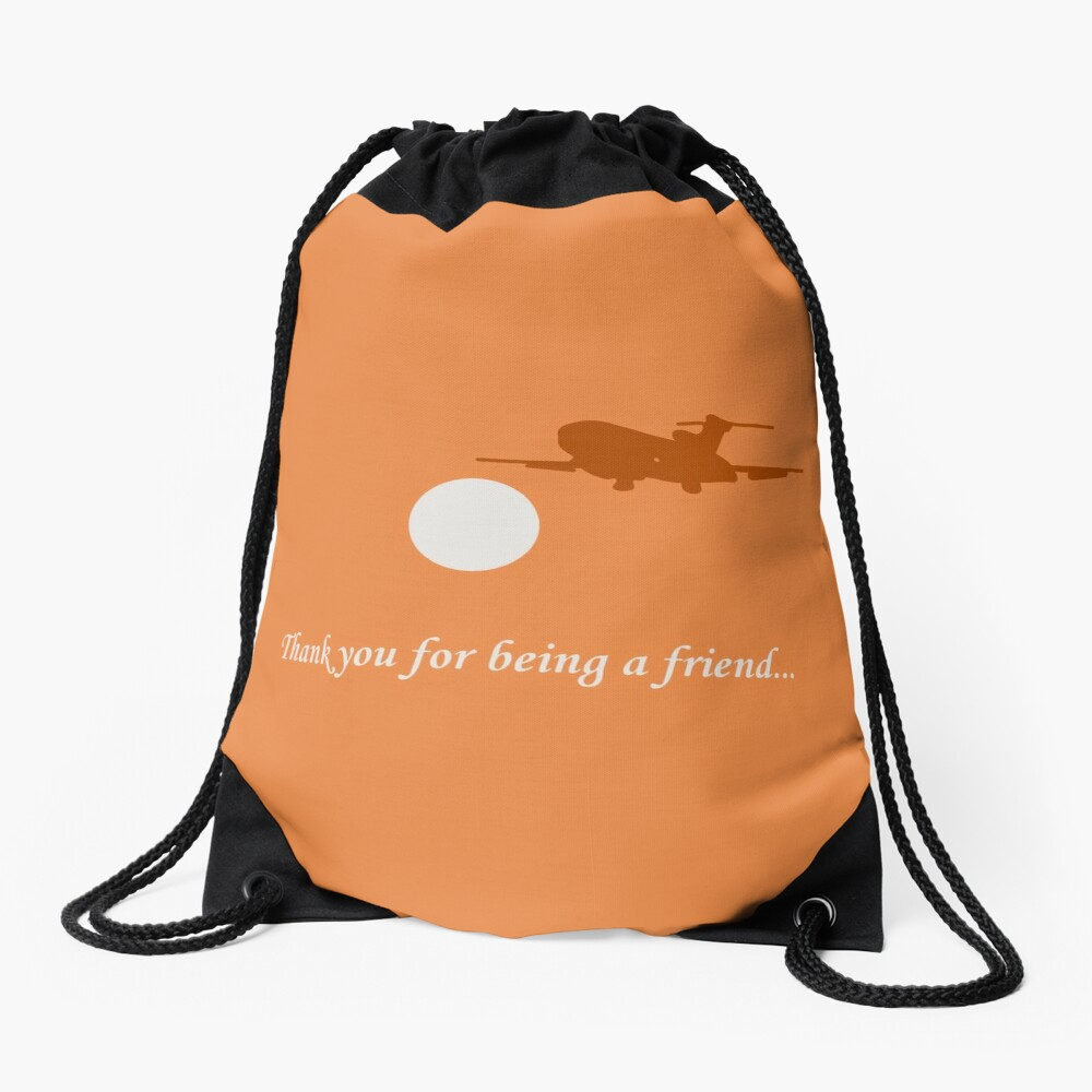 Thank You For Being a Friend! II Drawstring Bag