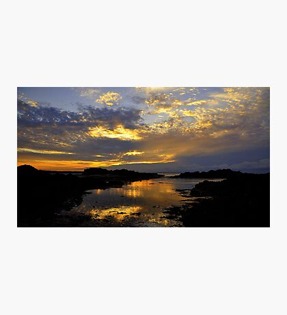 Sunset at Skerries. Photographic Print