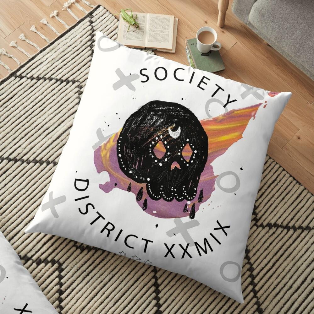 Trendy skull Floor Pillow