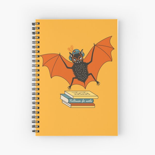 Bat granny in the library  Spiral Notebook