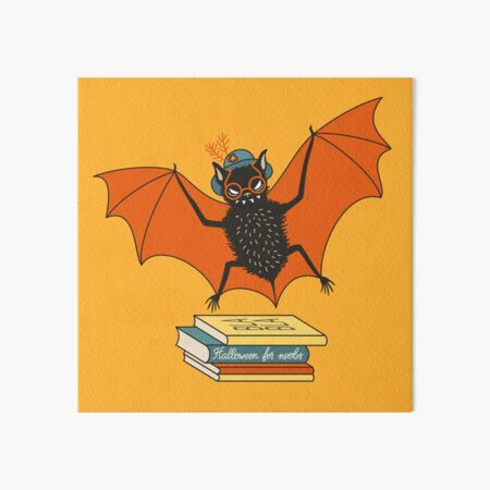 Bat granny in the library  Art Board Print