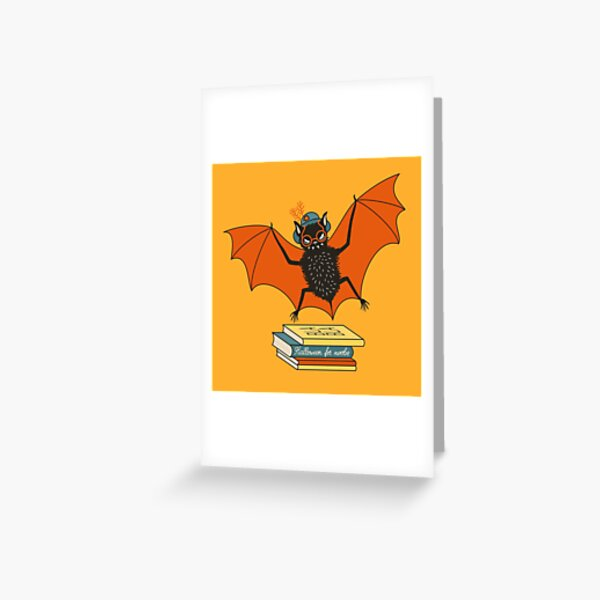 Bat granny in the library  Greeting Card