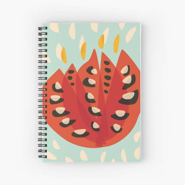 Abstract Red Tulip Flower In Spring Spiral Notebook