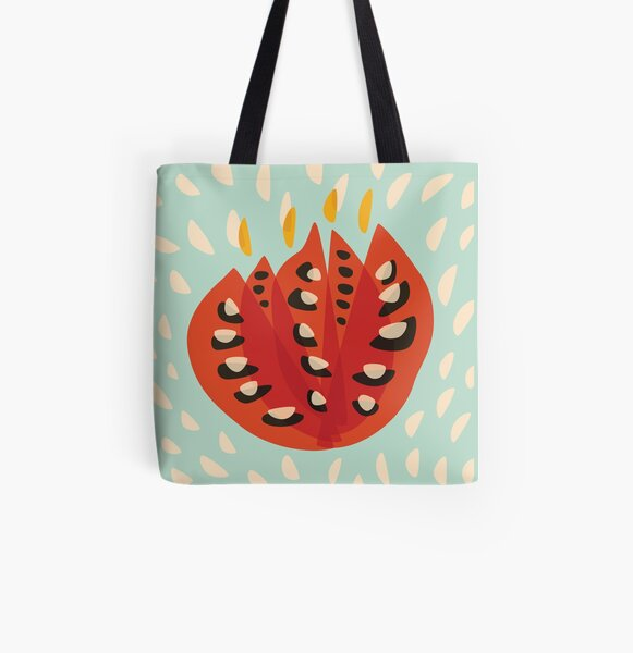 Abstract Red Tulip Flower In Spring All Over Print Tote Bag