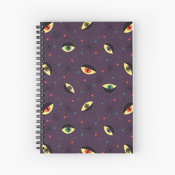 Reptile witch eyes retro pattern  Spiral Notebook