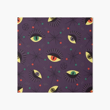 Reptile witch eyes retro pattern  Art Board Print