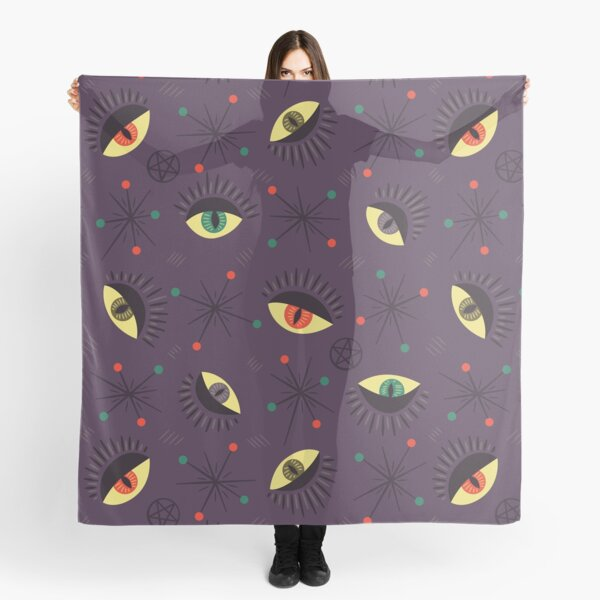 Reptile witch eyes retro pattern  Scarf
