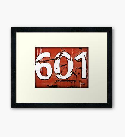601 Framed Print