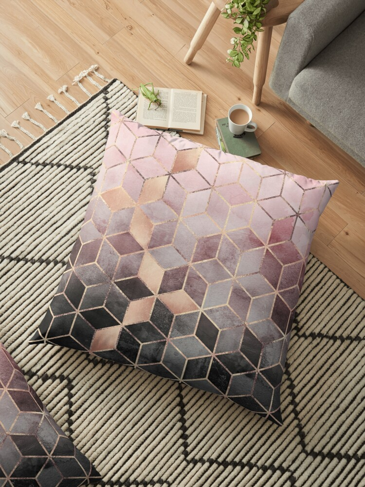 «Cubos de color rosa y gris degradado» de Elisabeth Fredriksson