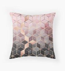 Pink And Grey Gradient Cubes Floor Pillow