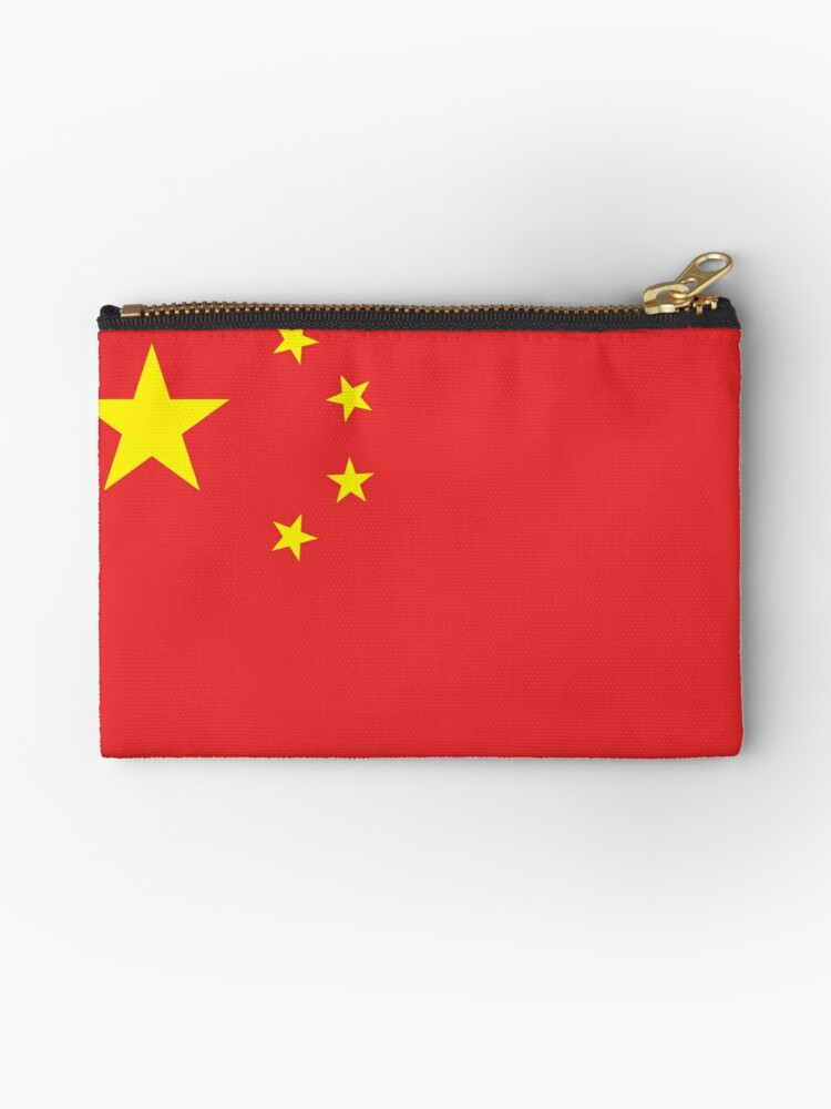 'CHINA, CHINESE FLAG, Flag of China, China Flag, People's Republic of  China, Pure & Simple, on White' Zipper Pouch by TOM HILL - Designer