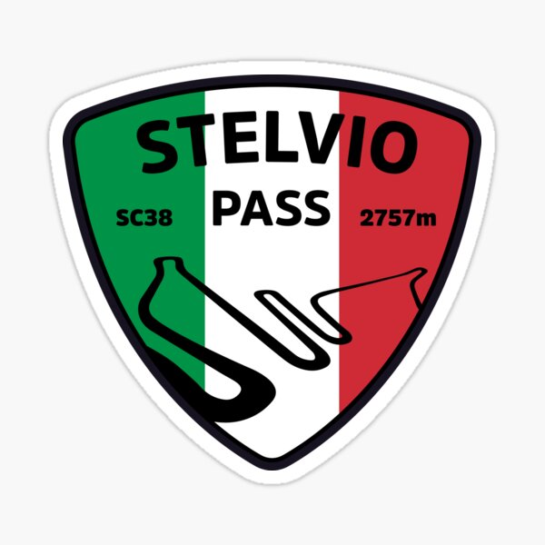 Stelvio Pass Motorcycle Sticker Sticker