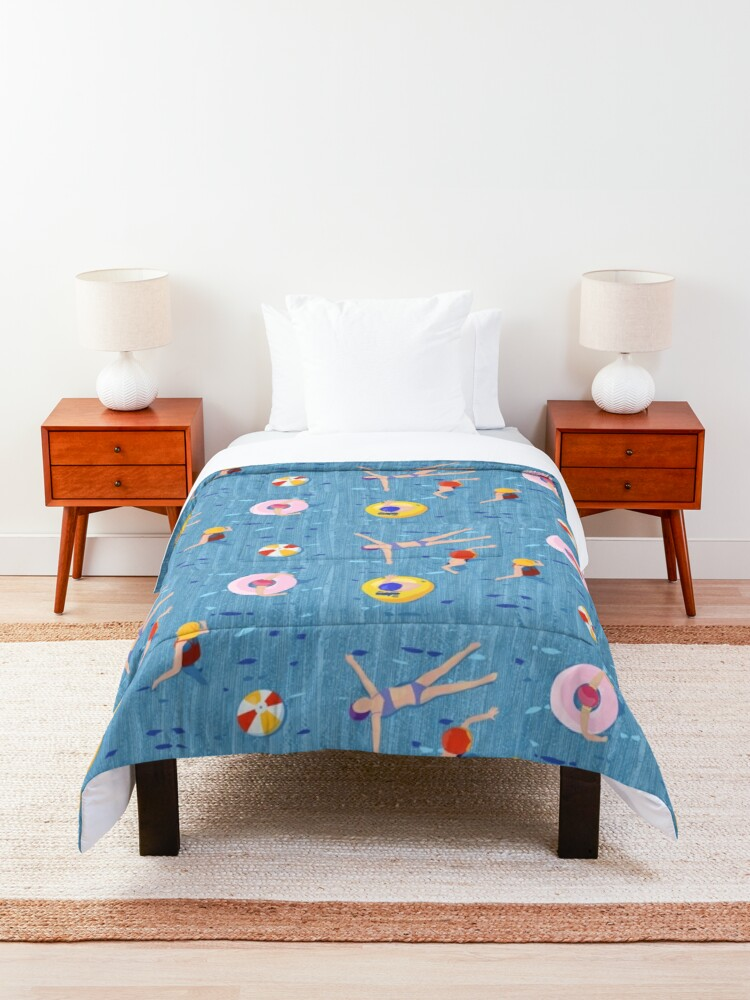 Alternate view of swimming is a breeze Comforter
