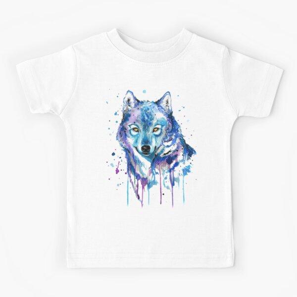 Watercolor Wolf Kids T-Shirt