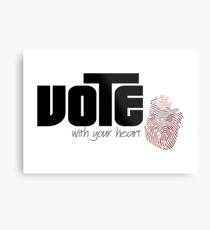 Voting By Conscience Metal Print
