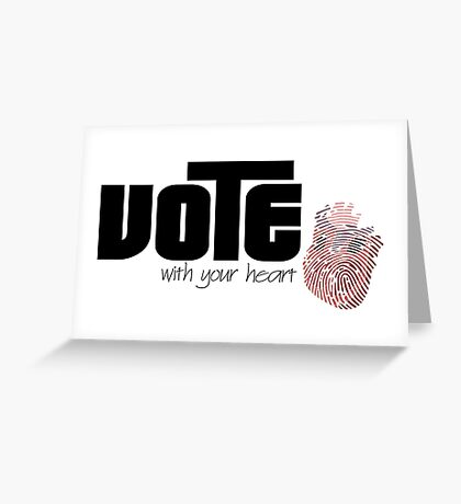 Voting By Conscience Greeting Card