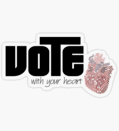 Voting By Conscience Transparent Sticker
