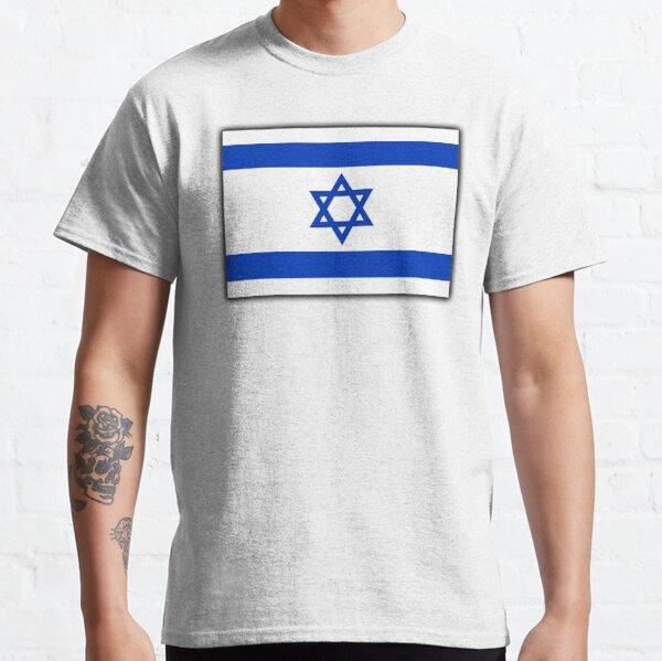 ISRAEL. Israeli. Flag, Flag of Israel, Holy Land, Jerusalem. Classic T-Shirt