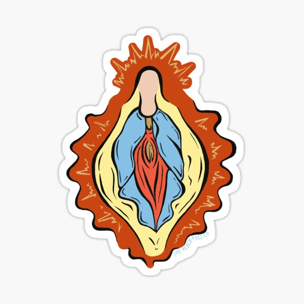 Vulva Mary - The Peach Fuzz Sticker