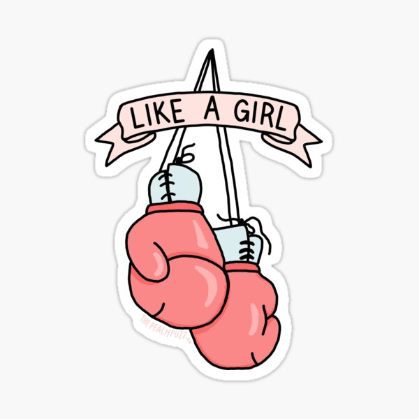 Punch out the Patriarchy - The Peach Fuzz Sticker