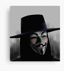 HUGO WEAVING  V FOR VENDETTA Canvas Print