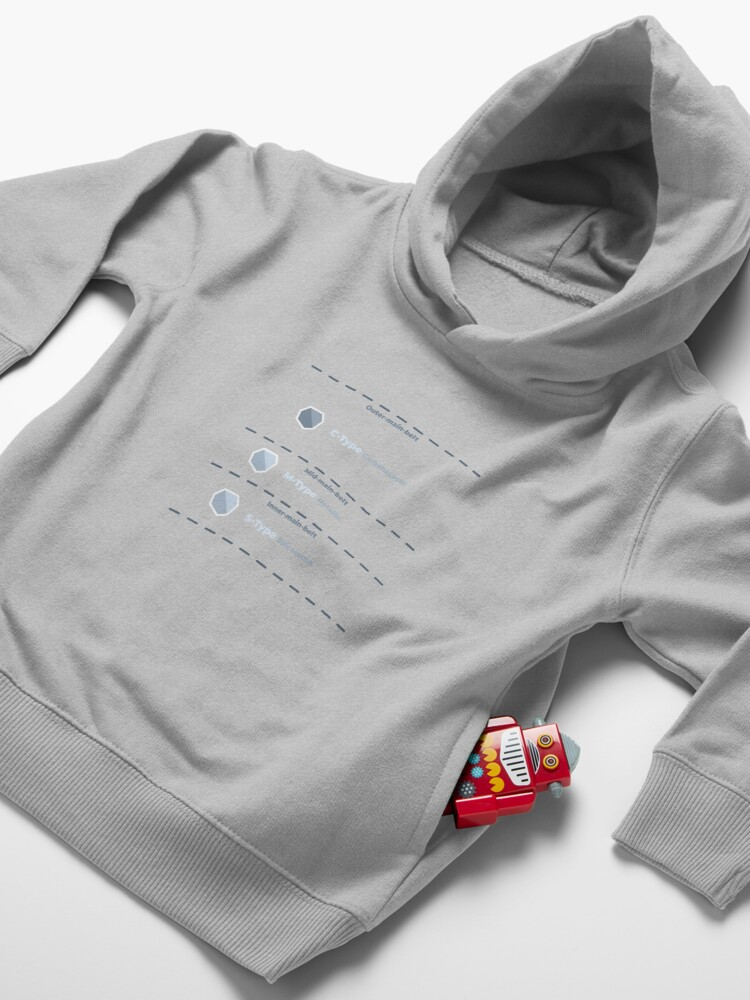 Alternate view of Asteroid Main Belt Compositional Classifications Toddler Pullover Hoodie