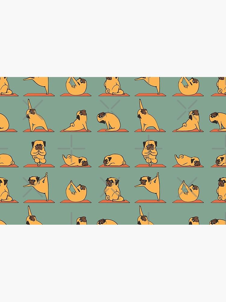Pug Yoga by Huebucket