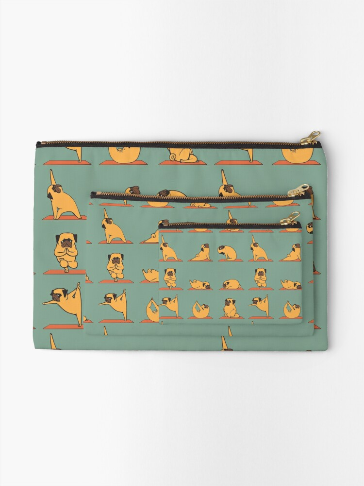 Alternate view of Pug Yoga Zipper Pouch