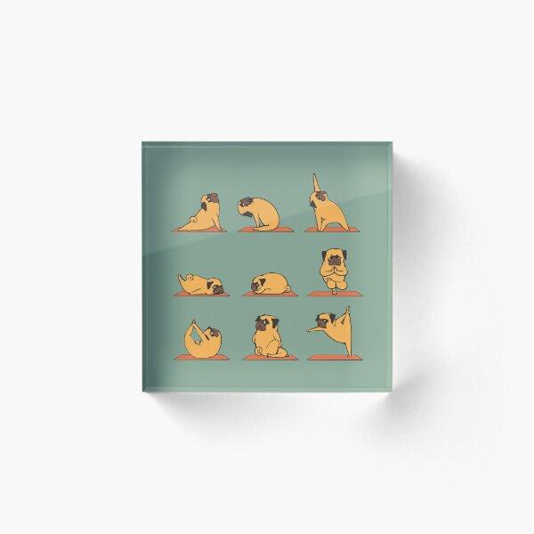 Pug Yoga Acrylic Block