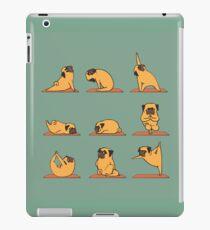 Pug Yoga iPad-Hülle & Klebefolie