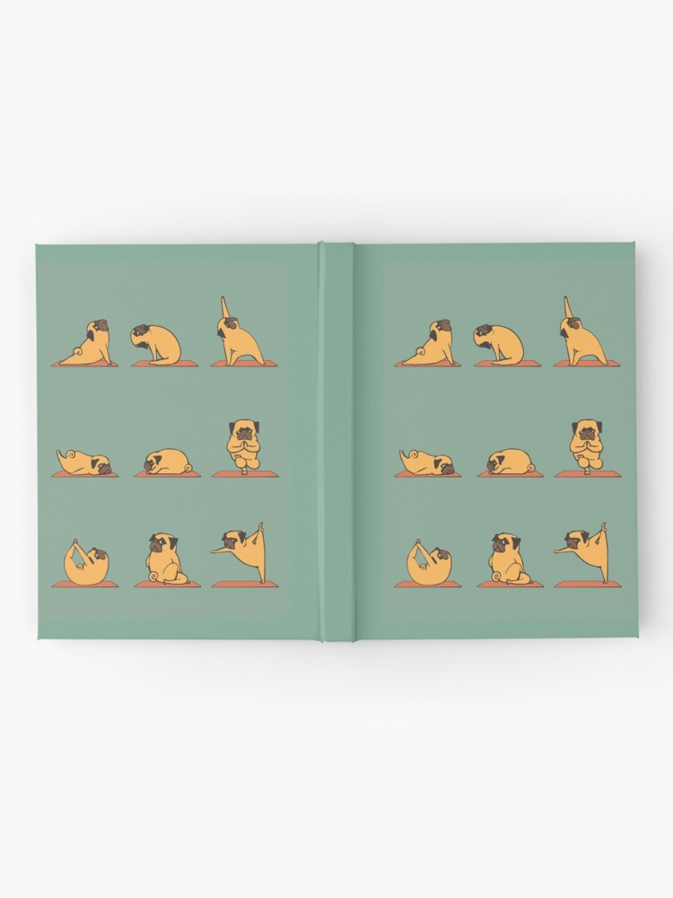 Alternate view of Pug Yoga Hardcover Journal