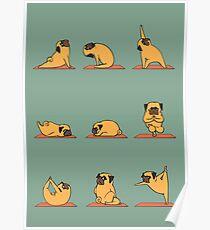 Pug Yoga Poster