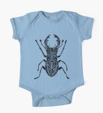 Rhinoceros Beetle Tribal Design  One Piece - Short Sleeve