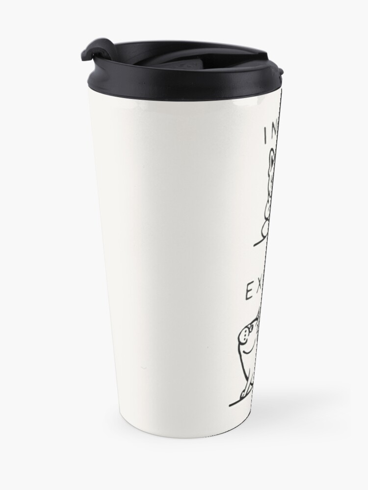 Alternate view of Inhale Exhale Frenchie Travel Mug