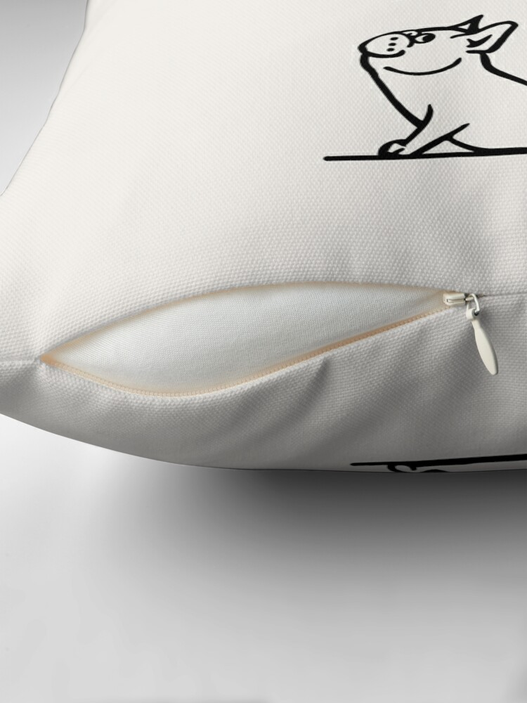 Alternate view of Inhale Exhale Frenchie Throw Pillow