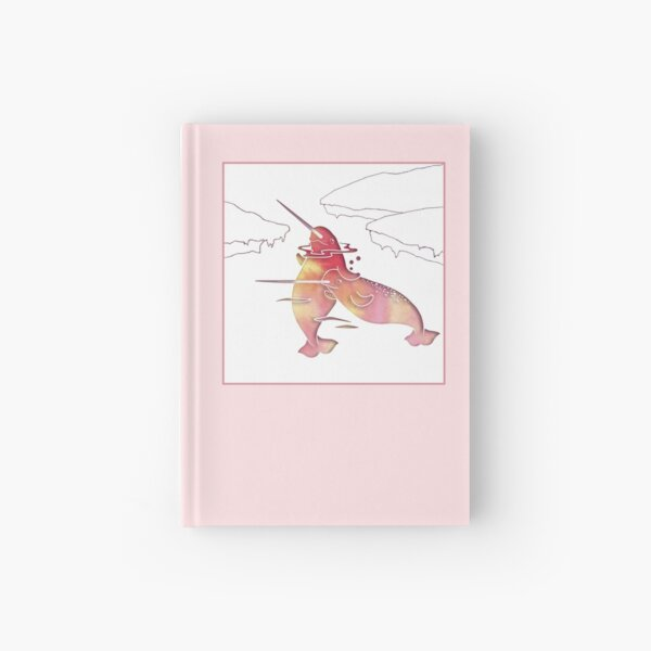 Peach Sea Narwhal Hardcover Journal
