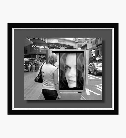 My face in New York...©  Photographic Print