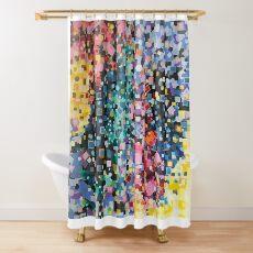 Algorithmic Overlay Shower Curtain